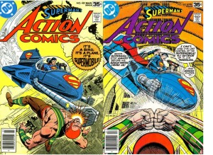 (L to R:) Action Comics 481, March 1978 & Action Comics 482, April 1978!